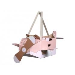 Mr Tody - Kartonnen Vliegtuig - Roze