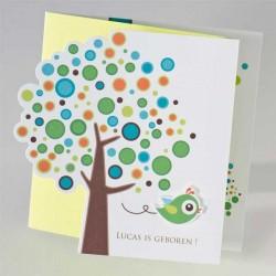 3-luik bollenboom met groene vogel