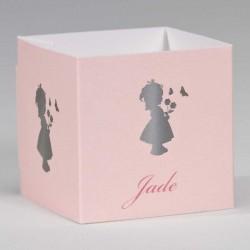 wikkel roze met silhouet meisje