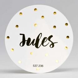 Grote ronde sticker Confetti Goud
