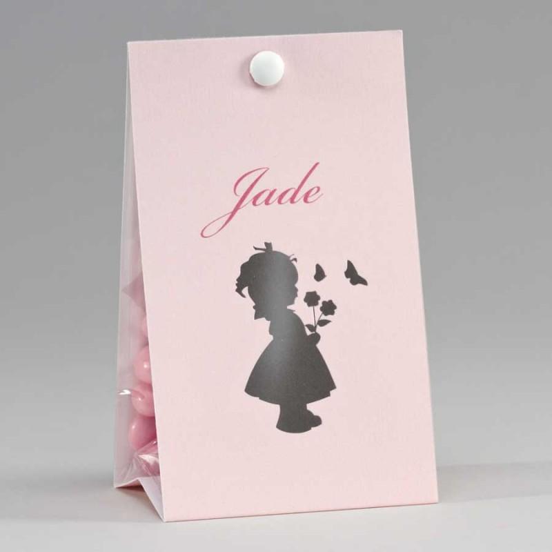 Snoepzakwikkel Silhouette Meisje Roze