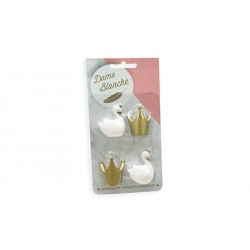 Blister Magneet Dame Blanche Wit