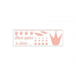 """Stickerset Kroon """"Dame Blanche"""" Peach"""