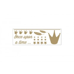 "Stickerset Kroon ""Dame Blanche"" Goud"