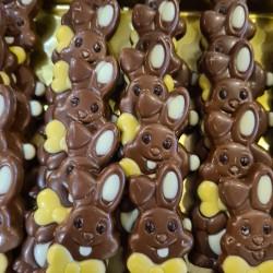 Paascaracque Melkchocolade - Haas met strik