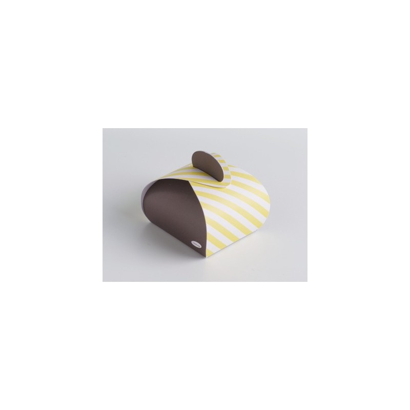 Pom Soft Yellow/Taupe bonbondoosje