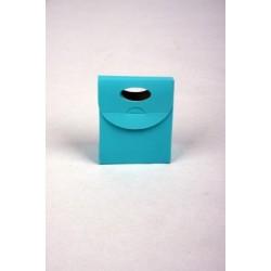 Klein tasje turquoise (blinkend) M